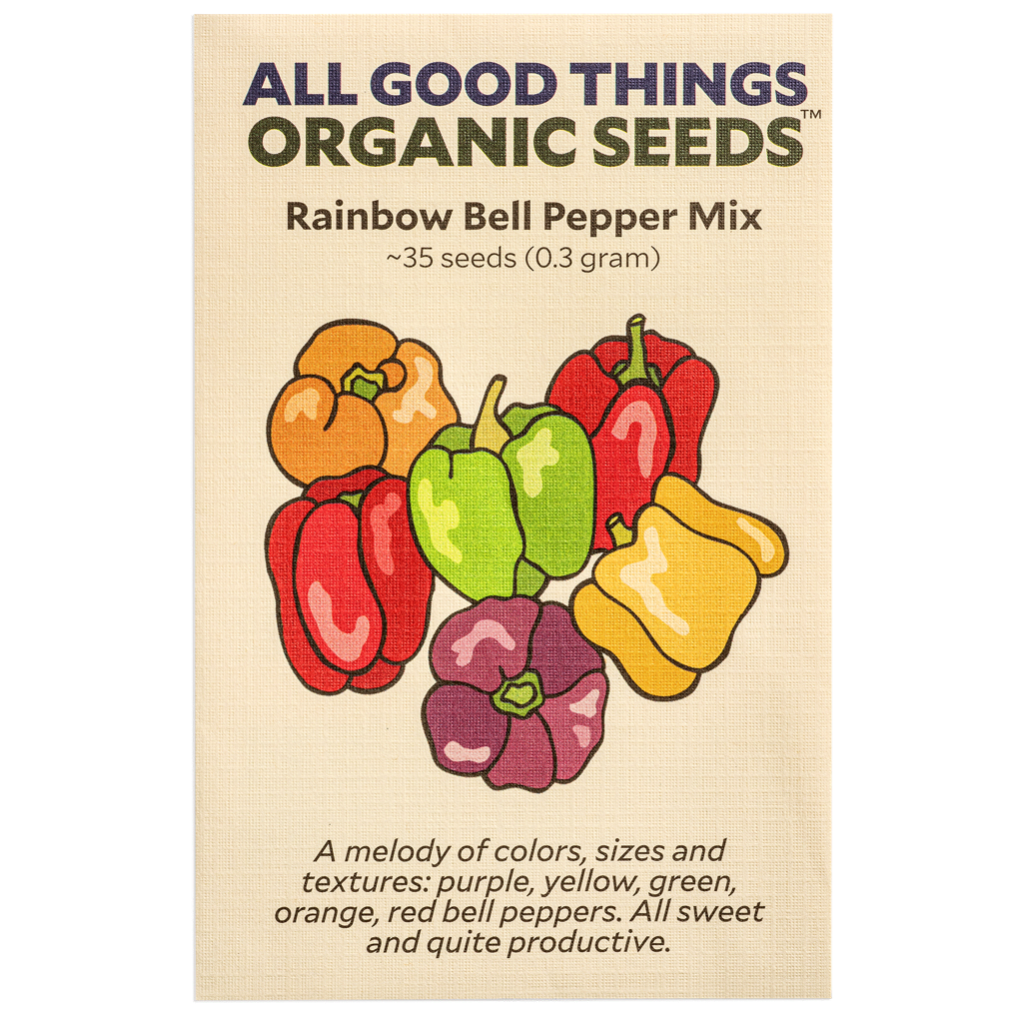 All Good Things Organic Seeds Rainbow Bell Pepper Mix