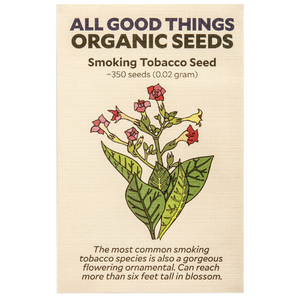 All Good Things Organic Seeds Smoking Tobacco Seed