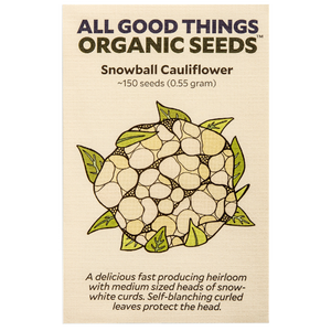 All Good Things Organic Seeds Snowball Cauliflower