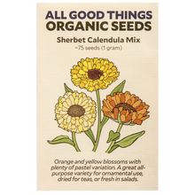 Load image into Gallery viewer, All Good Things Organic Seeds Sherbet Calendula Mix