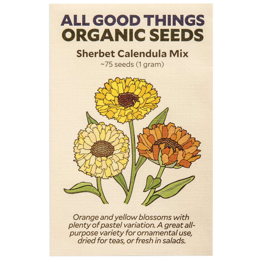 All Good Things Organic Seeds Sherbet Calendula Mix