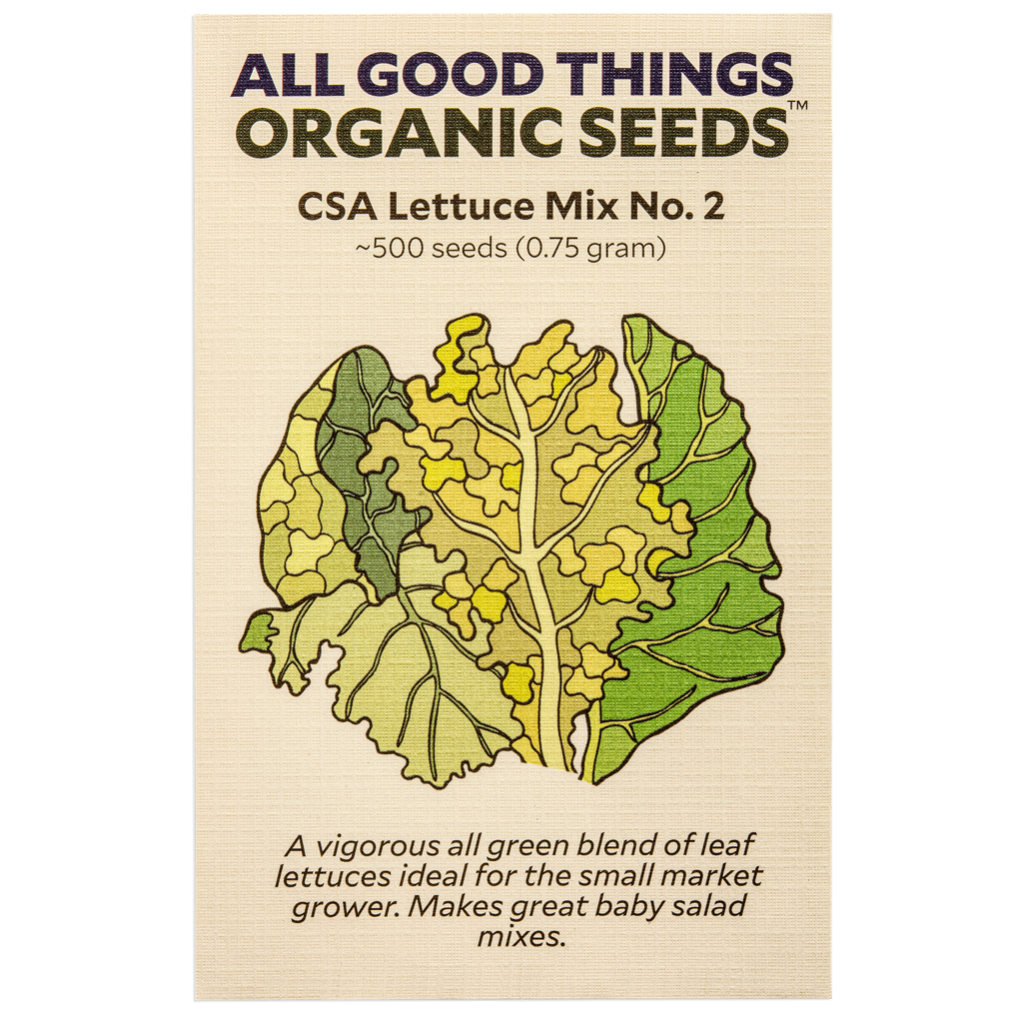 All Good Things Organic Seeds CSA Lettuce Mix No.2