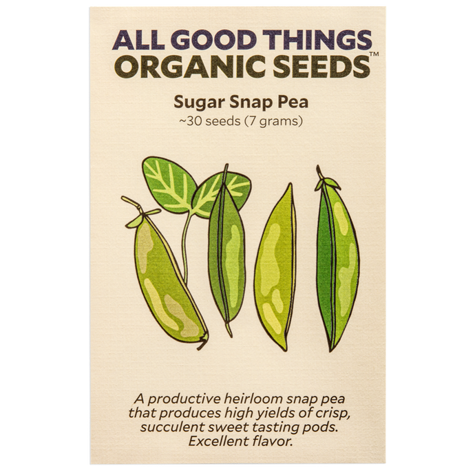 All Good Things Organic Seeds Sugar Snap Pea