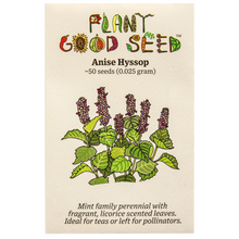 Load image into Gallery viewer, Plant Good Seed Anise Hyssop