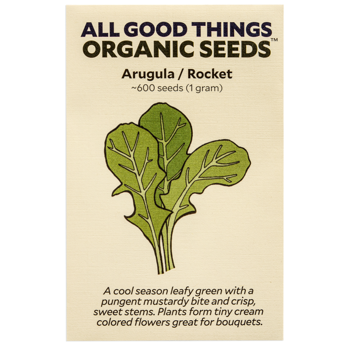 All Good Things Organic Seeds Arugula/Rocket