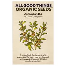Load image into Gallery viewer, All Good Things Organic Seeds Ashwagandha