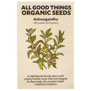 All Good Things Organic Seeds Ashwagandha