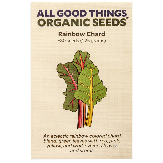 All Good Things Organic Seeds Rainbow Chard