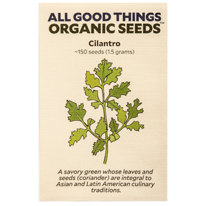 All Good Things Organic Seeds Cilantro
