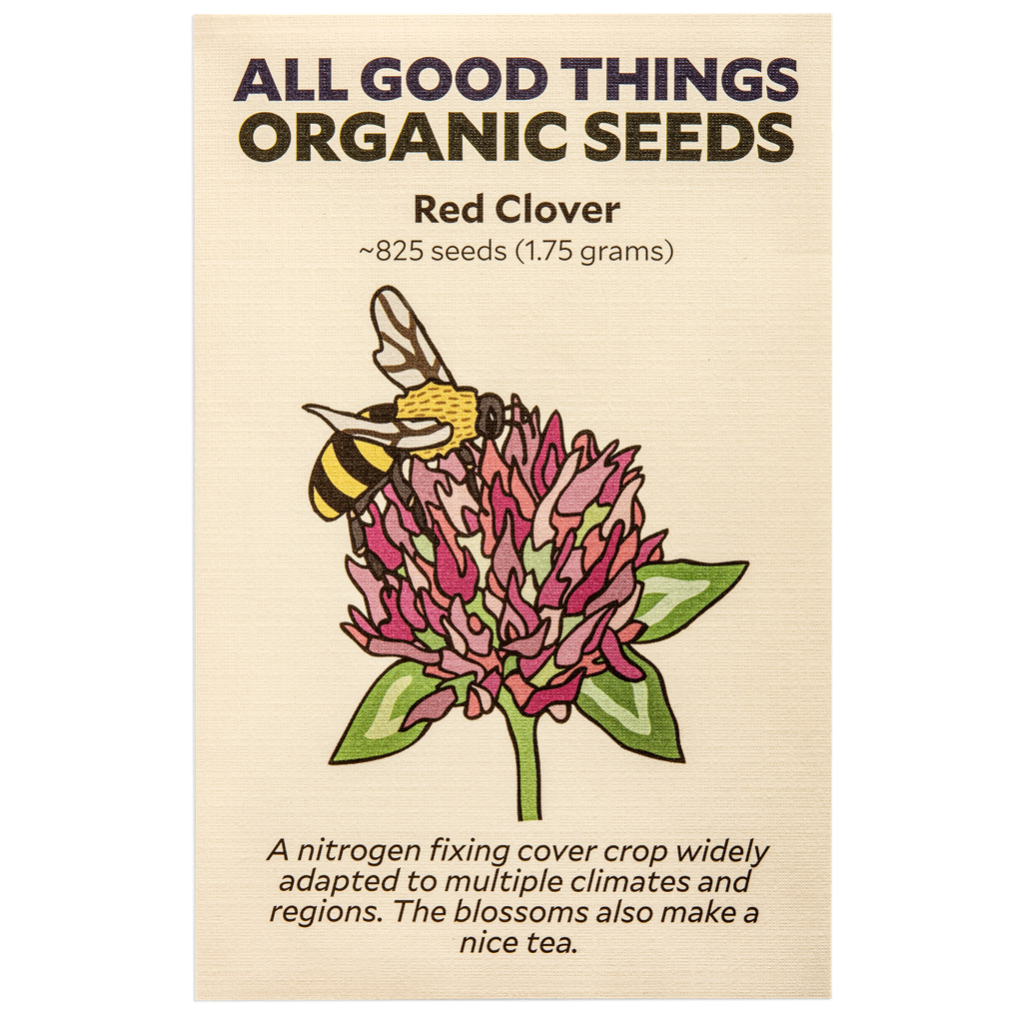 All Good Things Organic Seeds Red Clover