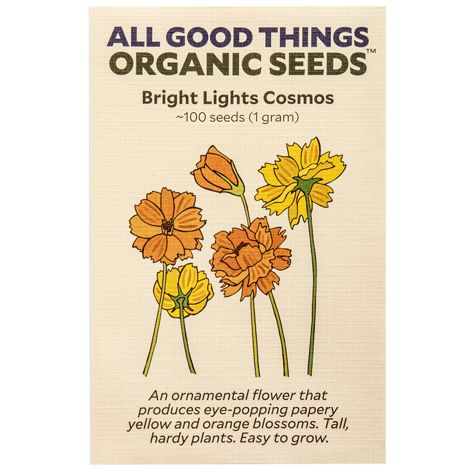All Good Things Organic Seeds Bright Lights Cosmos