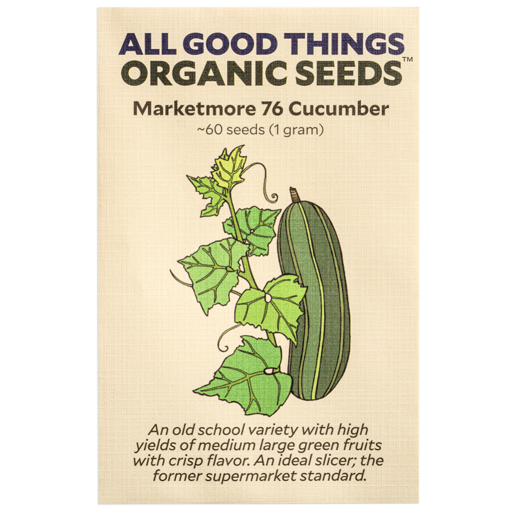 All Good Things Organic Seeds Marketmore 76 Cucumber