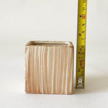 "Load image into Gallery viewer, 2"" Marbled Square Ceramic Mini Pot"