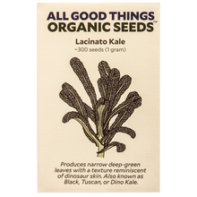Load image into Gallery viewer, All Good Things Organic Seeds Lacinato Kale