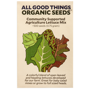 All Good Things Organic Seeds Community Supported Agriculture Lettuce Mix