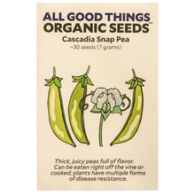 Load image into Gallery viewer, All Good Things Organic Seeds Cascadia Snap Pea