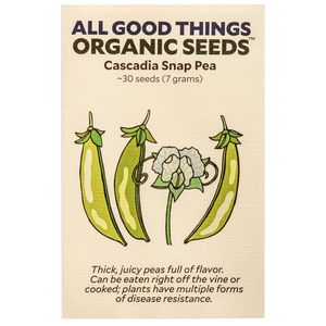 All Good Things Organic Seeds Cascadia Snap Pea