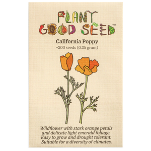 Plant Good Seed California Poppy