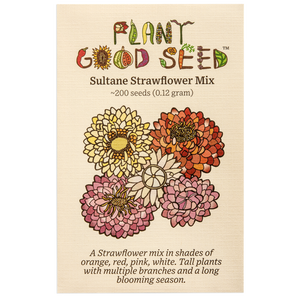 Plant Good Seed Sultane Strawflower Mix