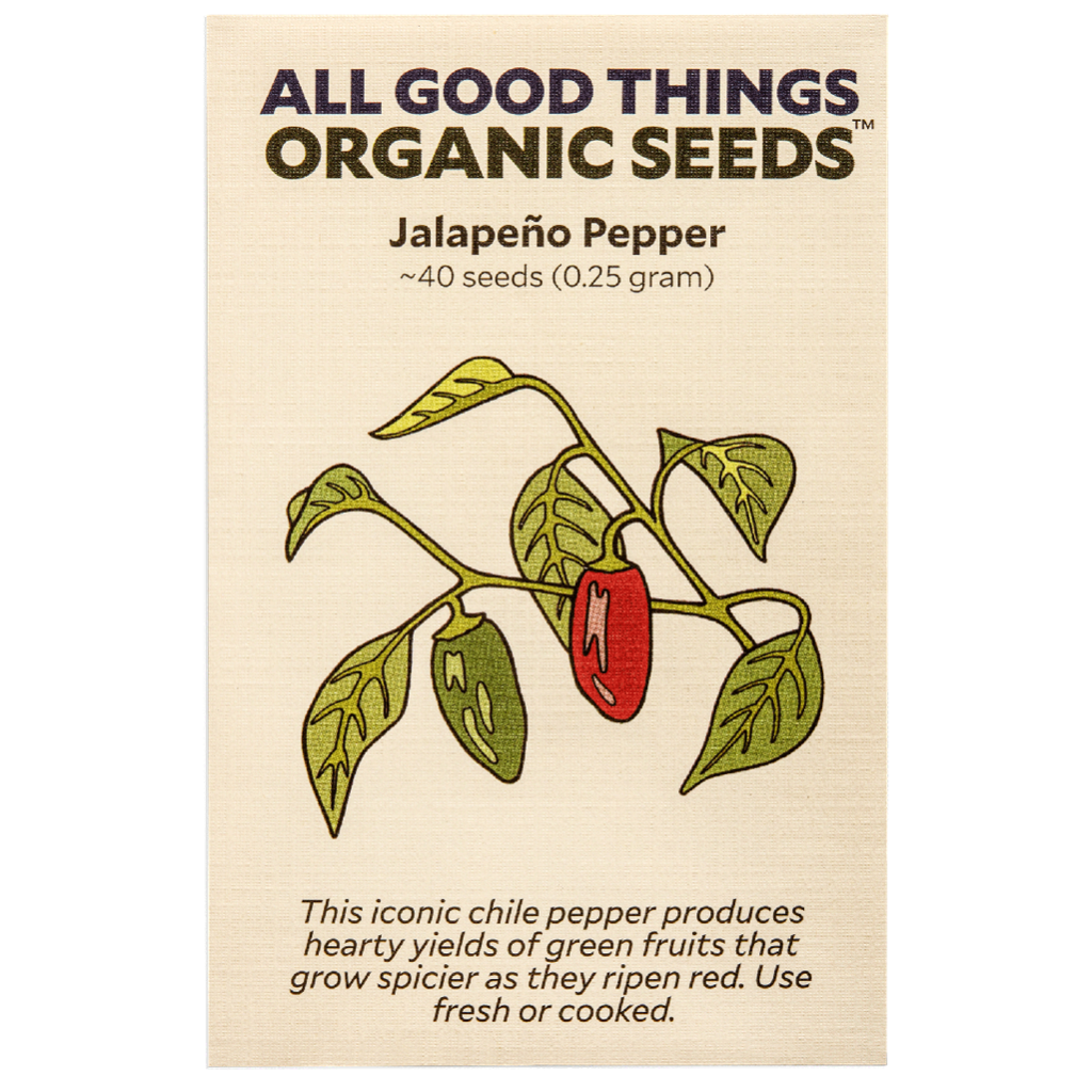 All Good Things Organic Seeds Jalapeño Pepper
