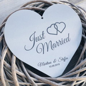 "Stahl-Herz ""Just married"" - personalisiert Craftbrothers"