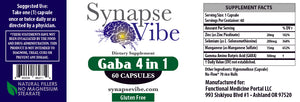 Gaba 4-in-1 Supplement - 4 Protocol Supplements in One Bottle