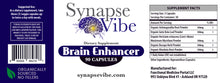 Load image into Gallery viewer, Brain Enhancer by Synapse Vibe- 5 Protocol Supplements in One - Organically Sourced