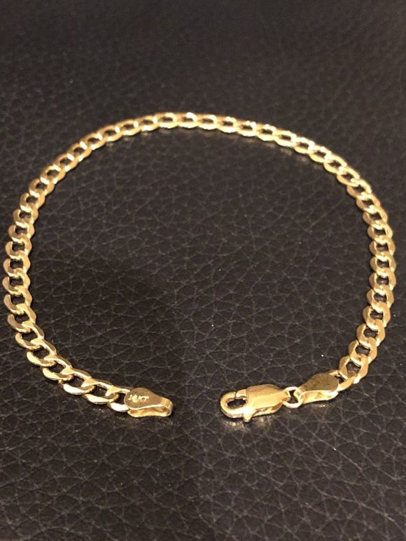 "4.5mm 10k Solid Yellow Gold Miami Cuban Curb Link 8"" Bracelet 2.1-2.7 Grams"