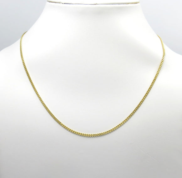 2.5mm Solid 10k Gold Miami Cuban Link Chain