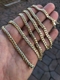 5mm Solid Miami Cuban Link Gold Chain 42-53g