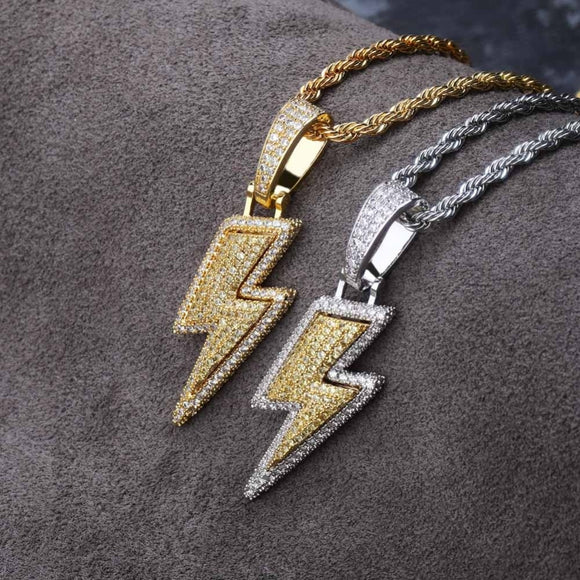 Bolt Lightning Pendant Necklace