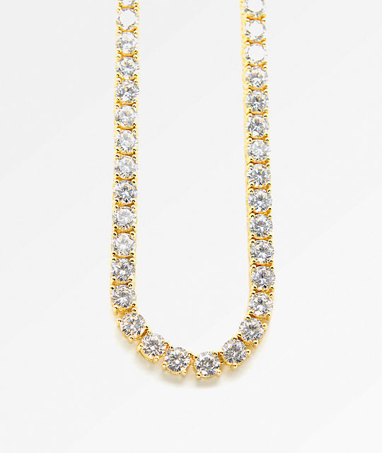 7.20Ct Diamond Tennis Necklace in 14kt Solid Yellow Gold