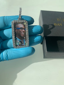 Rectangle Custom Picture Necklace