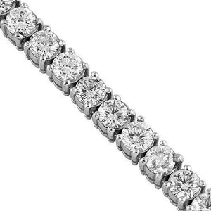 8.00Ct Diamond Tennis Necklace In 14k Solid White Gold