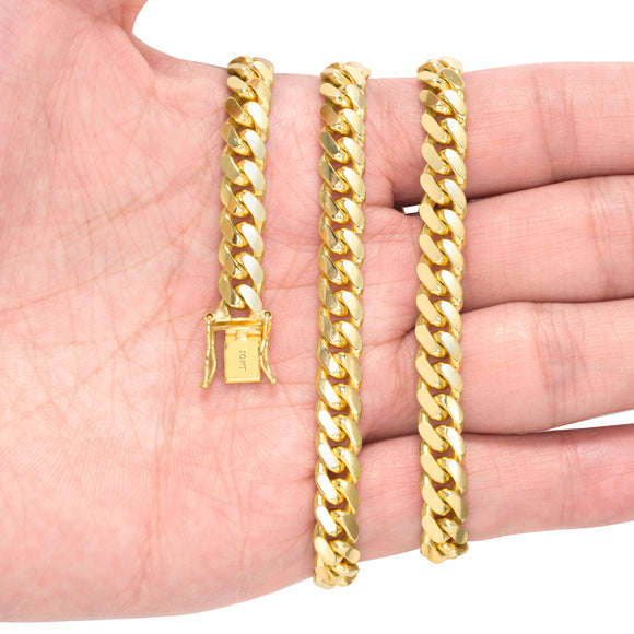 10k Solid Yellow Gold 6.5mm Miami Cuban Link Bracelet