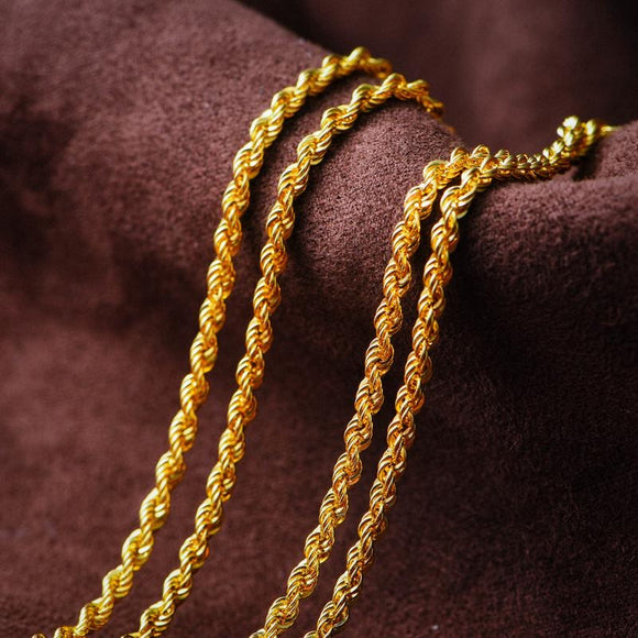 10k Solid Gold 2.6mm Rope Chain