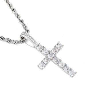 925 Sterling Cross Pendant with Chain