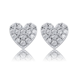 925 Sterling Heart Shape Women Earring