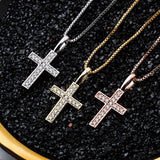 925 Sterling Ice Cross Pendant Necklace