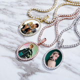 Oval Custom Photo Pendant Necklace