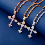 New Iced Cross Pendant Necklace