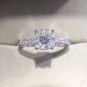 18K White Gold 0.4 ct Certified Real Diamond Engagement Ring