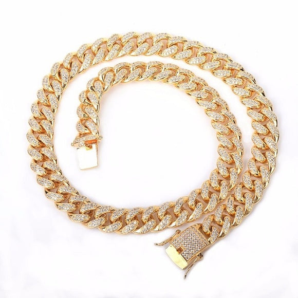 12mm Cuban Link Necklace