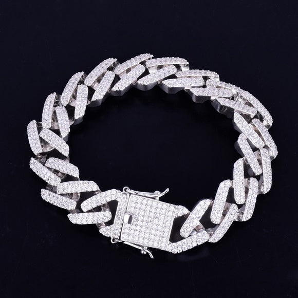 14mm Prong Miami Cuban Link Bracelet