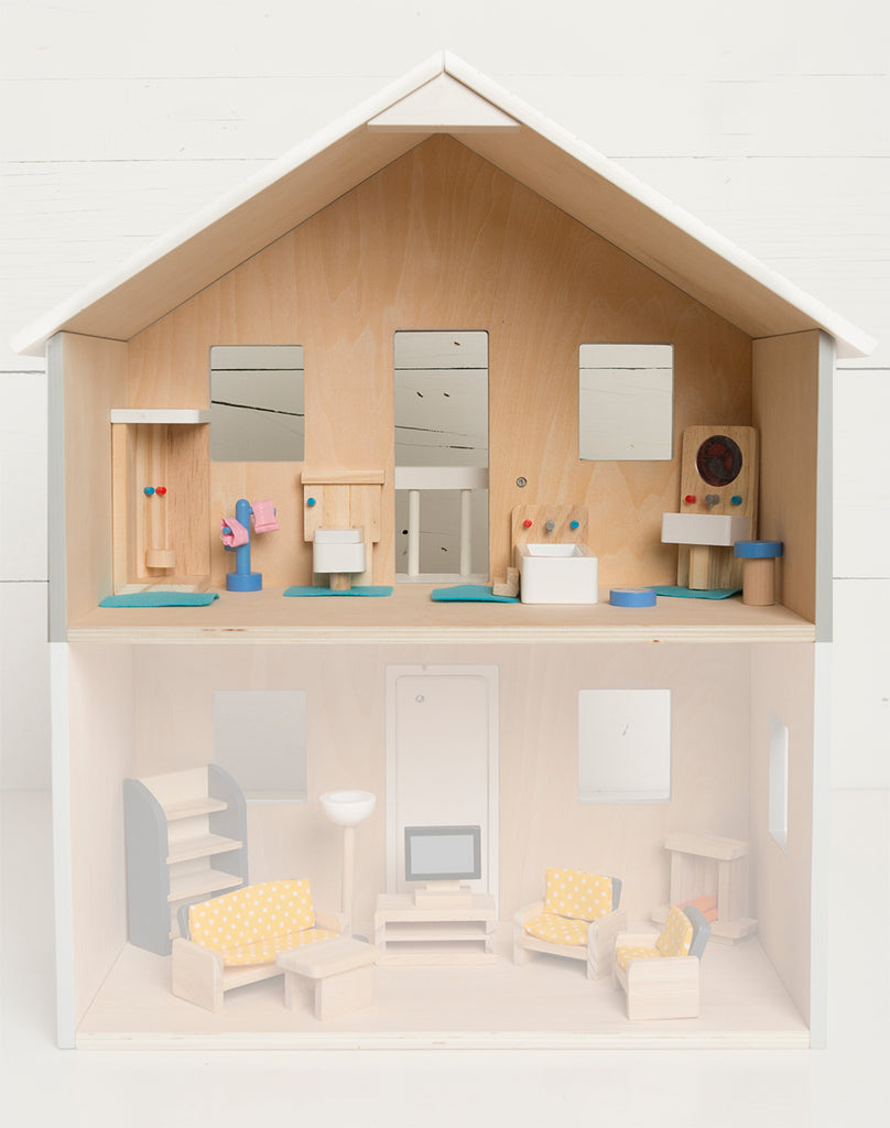 DOLLHOUSE FURNITURE SET - Bathroom