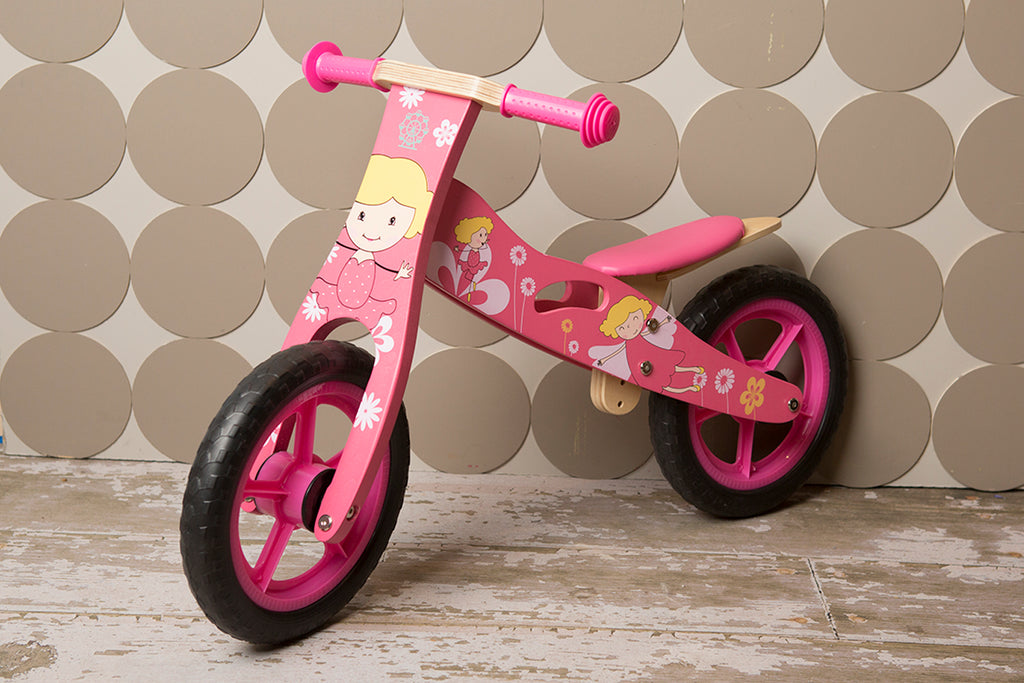 WOODEN BALANCE BIKE - Girls Design Training Bike