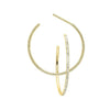 Diamond Ultra-Slim Hoop Earrings In 14k Yellow Gold (1/20ctw)
