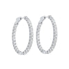 Diamond Inside Out Oval Hoop Earrings In 14k White Gold (5ctw)