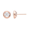 Gold Diamond Earring 1/6ctw