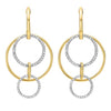 Cutout Circle Diamond Earrings In 14K Yellow Gold (1/2 Ct. Tw.)